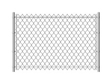 Chain Link Fence. Realistic Me...
