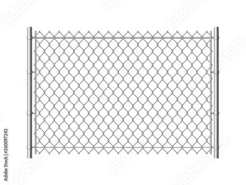 Chain link fence Fototapeta