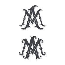 MA Vintage Monogram Logo.