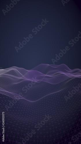 Fotografia  Abstract landscape on a blue background