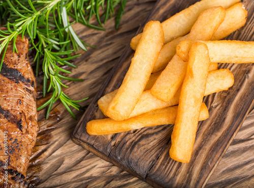 Fototapeta Tasty fried yuca - Manihot esculenta obraz