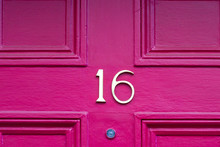 House Number Sixteen With The 16 In Bronze