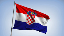 Waving Flag Of Croatia. Croati...