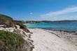 Panorama of the Rena di Ponente beach in Sardinia