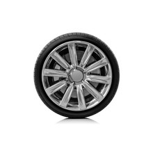 Car Wheel Isolated On A White ...