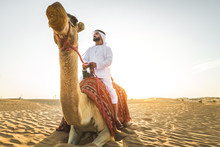 Arabian Man With Camel In The ...