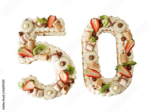 Fotografia  fifty anniversary cake