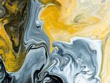 Czarno-białe z złotym kreatywnych streszczenie ręcznie malowane tła, marmurowe tekstury - 260118429