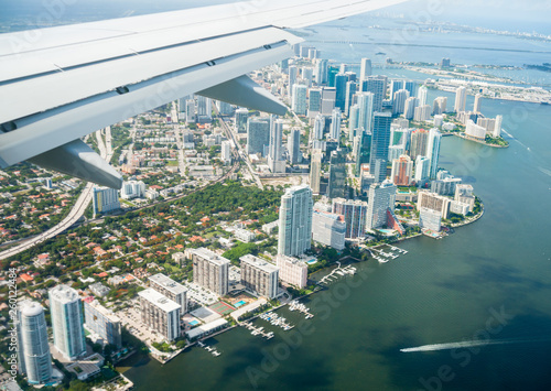 Aerial view of Miami Wallpaper Mural