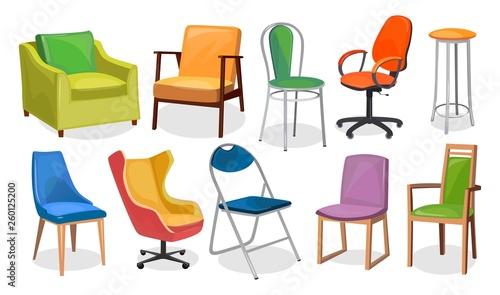 Obraz na plátně Modern chair furniture collection