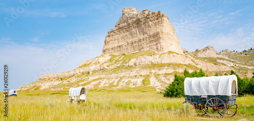 Scotts Bluff National Monument in Nebraska, Oregon Trail, USA Fototapeta
