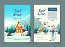 Modern Winter Resort Cartoon V...