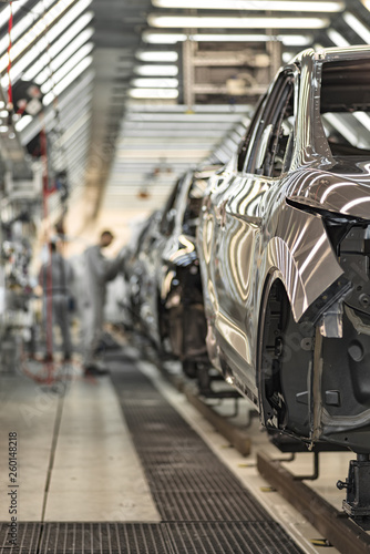 Production line of automobile plant, painting shop Wall mural