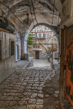 A Courtyard In The Holy City, ...
