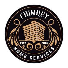 Vintage Chimney Logo. Vector L...