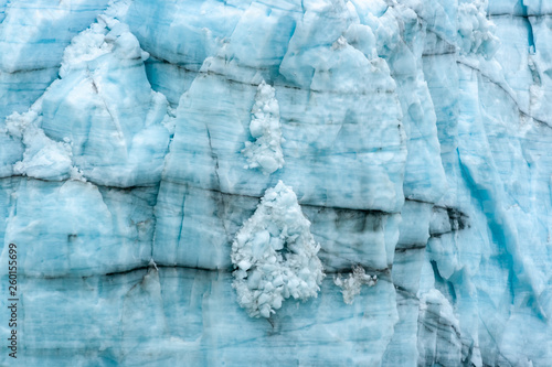 Valokuva  Abstract Patterns on the Face of a Glacier in Alaska
