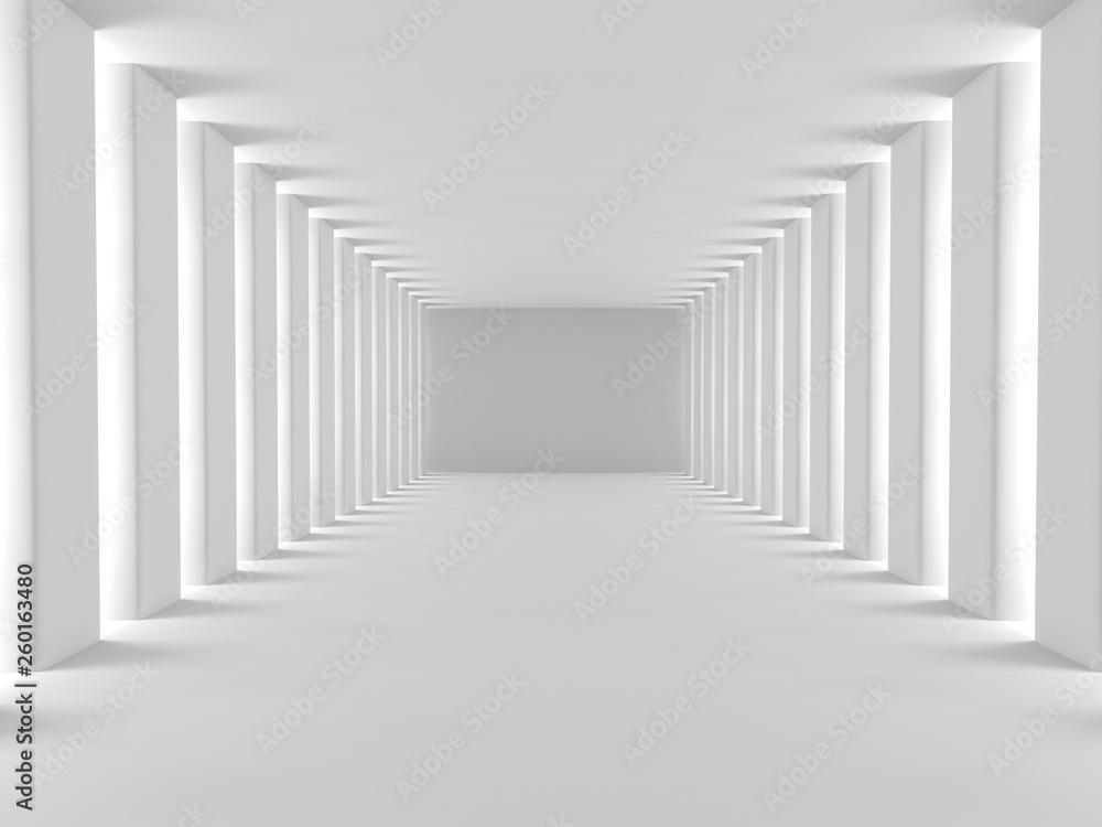 Fototapety, obrazy: Empty white 3d modern room