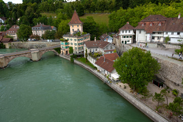 Fototapeta na wymiar Paisagem de Berna na Suiça