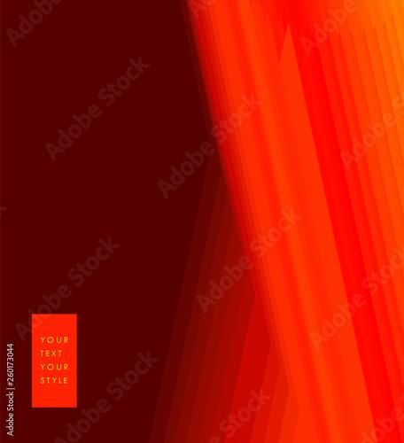 Dark Red Color Toned Transparent Lines Minimal Concept