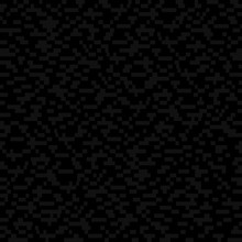 Simple Mosaic Repeatable Texture. Gray Rectangles On Black Background. Vector Seamless Pattern