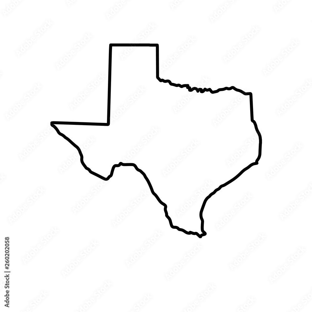 Fototapety, obrazy: The Map Of Texas. Raster illustration