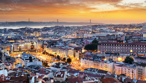 Photo sur Toile Europe Centrale Lisbon - Lisboa cityscape, Portugal