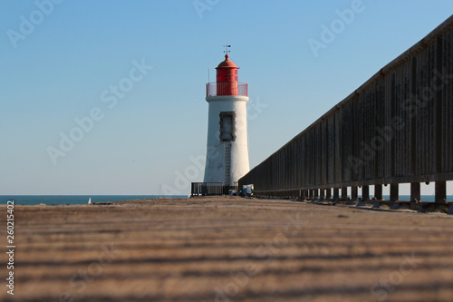 Montage in der Fensternische Leuchtturm Lighthouse (Atlantic coast - La Chaume - France)