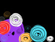 Abstract Colorful Hand Drawn Circles Background