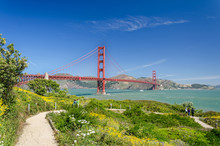 Golden Gate Bridge Und Park In San Francisco