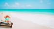 cute little girl relaxed on summer beach