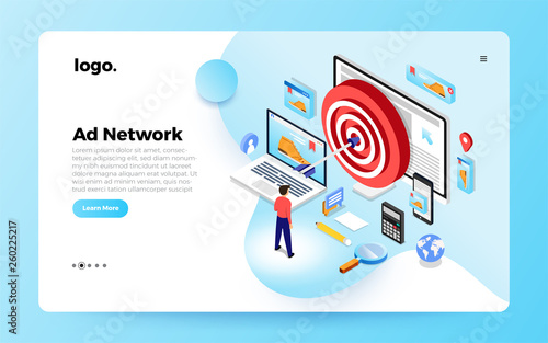 Photo Isometric Website Ade Network