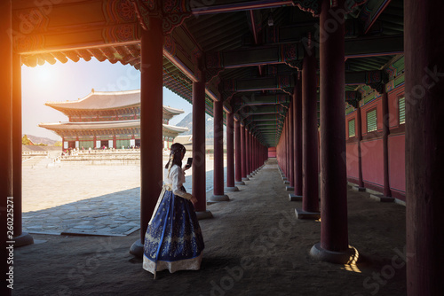 Poster de jardin Seoul Gyeongbokgung palace