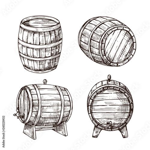Stampa su Tela Sketch barrels