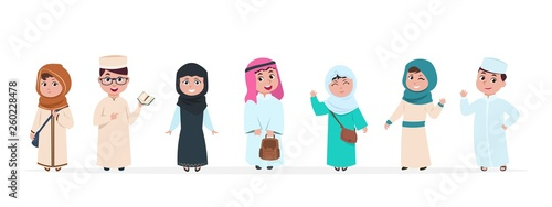 Fotomural Muslim kids