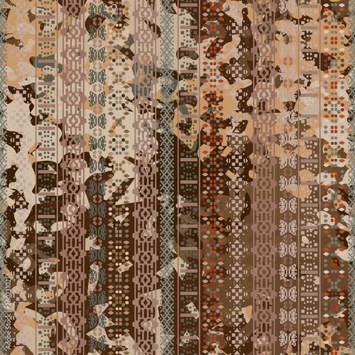 Distressed seamless pattern Canvas Print