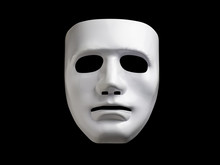 White Mask Isolated With Clipping Path