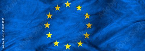 Photo image of European Union flag closeup