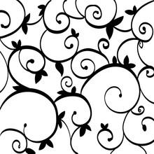 Black Paisley Outline Pattern ...