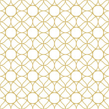 Abstract Linear Ornament. Seamless Vector Pattern