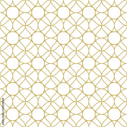 Pinturas sobre lienzo  Abstract linear ornament. Seamless vector pattern