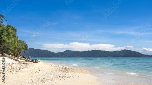 Beach on the Manukan Island, Sabah, Malaysia Canvas Print