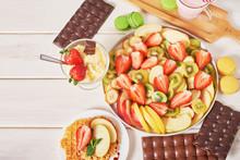 Chocolate Bars And Fruit Slice...