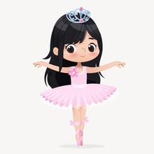 Cute Child Girl Ballerina Danc...