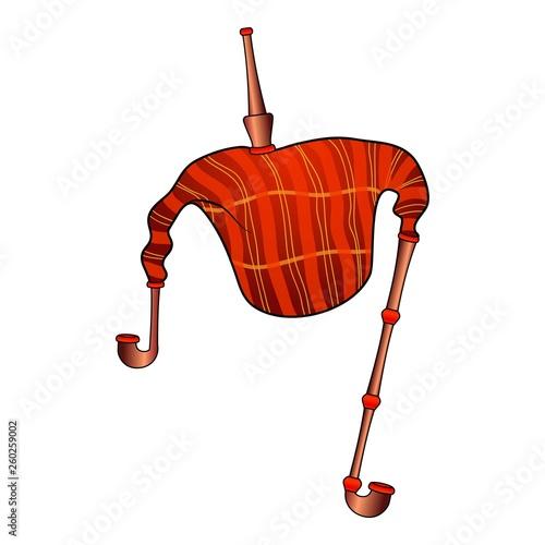 Cuadros en Lienzo Red bagpipes icon