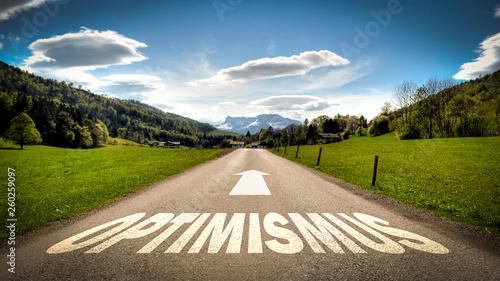 Fotografia  Schild 401 - Optimismus