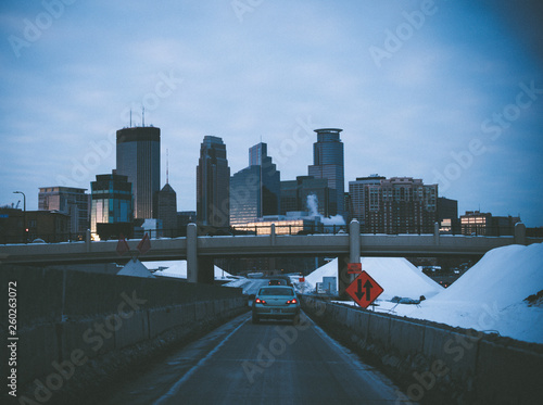 Fotografering  Minneapolis Skyline