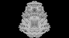 Fractal 2021: A Futuristic Mandelbulb Object Twists And Turns (with Matte).