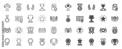 Award line icons Fototapete