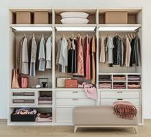 Modern Wooden Wardrobe With Wo...