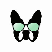 Cute French Bulldog Vector Wit...